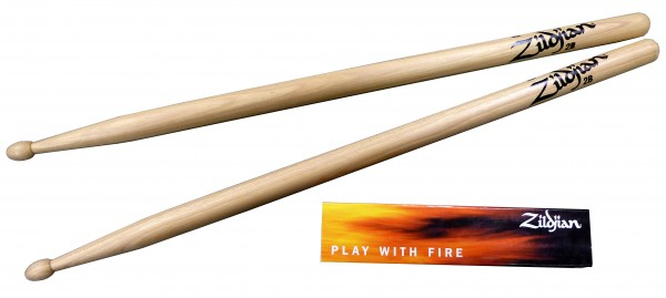 Zildjian 2B Hickory Sticks Wood Tip