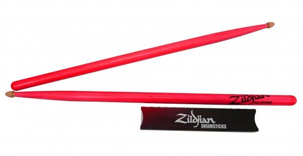 ZILDJIAN 5A Acorn Wood Neon Drumstick - Pink