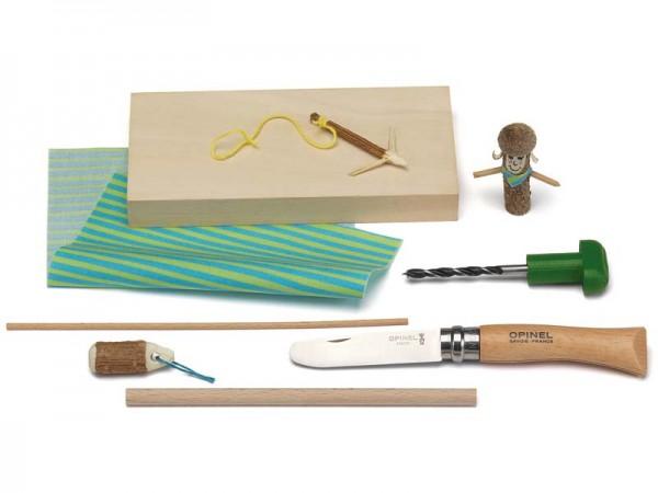 Kosmos Bastelbox inkl. Opinel-Kinderschnitzmesser
