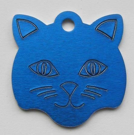 Katzenkopf aus Aluminium