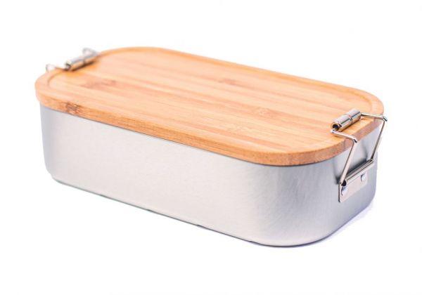 Lunchbox mit Bambusdeckel inkl. Textgravur