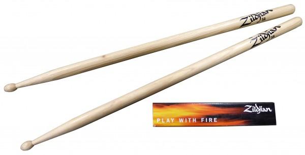Zildjian 5A Hickory Sticks Wood Tip