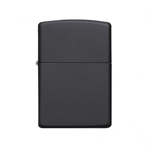 Zippo - Schwarz matt mit chromefarbener Gravur