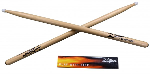 Zildjian 5AN Anti Vibe Sticks Nylon Tip