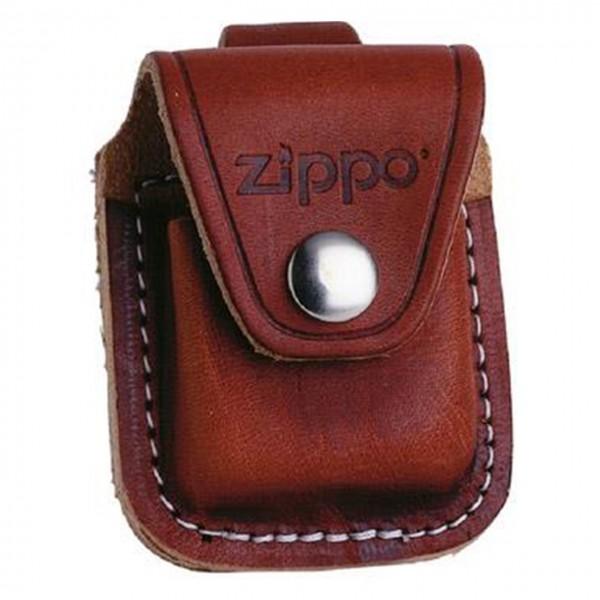 Zippo Leder-Gürteltasche braun mit Lasche