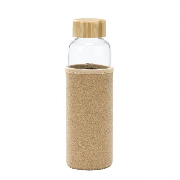 Glasflasche mit Kork-Schutz