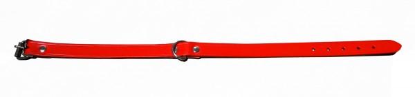 Hundehalsband Leder Rot