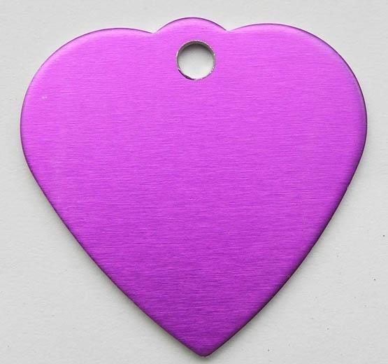 Tiermarke, Herz aus Aluminium - verschiede Farben