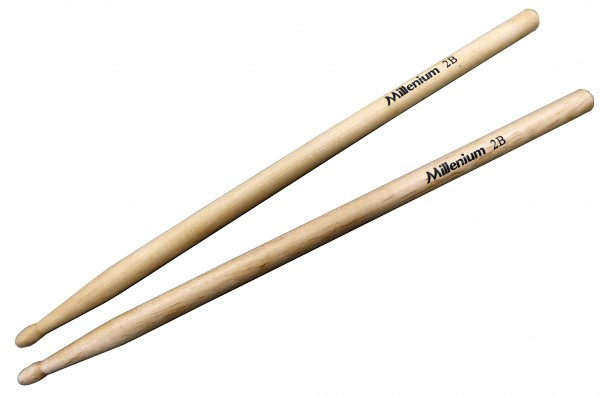 Millenium 2B Drum Sticks Maple - Wood